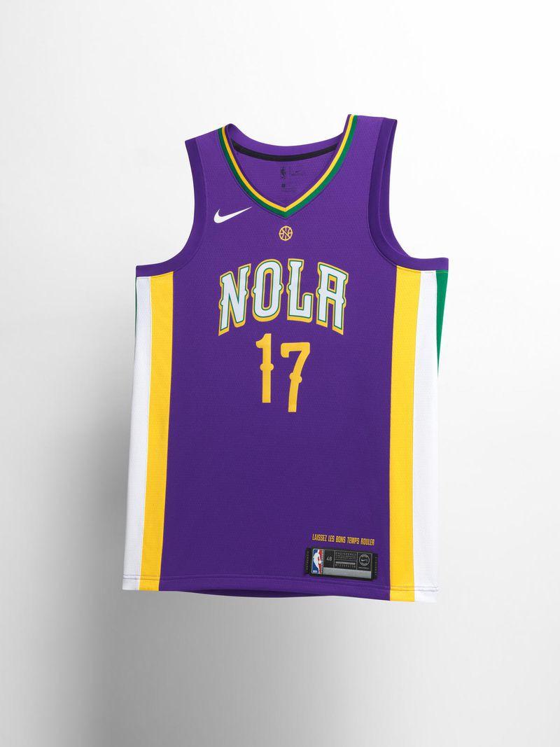 """Một không khí đậm chất lễ hội đã được đưa lên mẫu áo City Edition của Pelicans khi ngay cả con số trên áo cũng đang """"nhảy múa""""."""