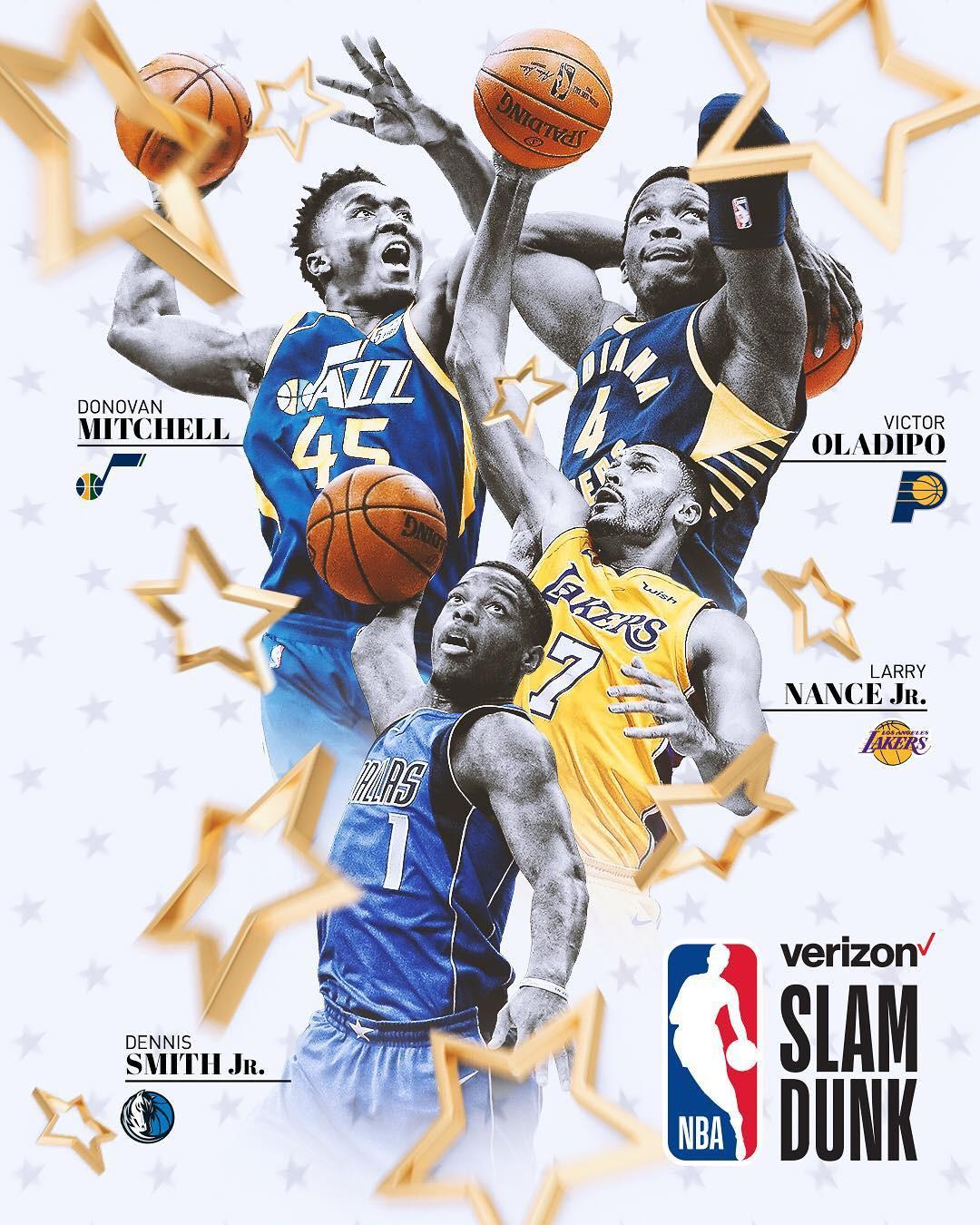Các cầu thủ sẽ tham dự Slam Dunk Contest 2018 diễn ra vào ngày mai.