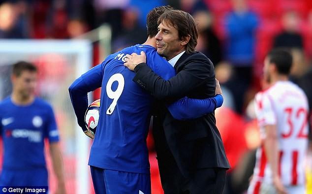 Hình ảnh: Morata là tiền đạo duy nhất mà Conte có thể tin tưởng lúc này