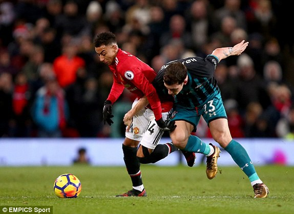 Hình ảnh: Các chân sút áo đỏ bất lực trong việc xuyên thủng mành lưới Southampton