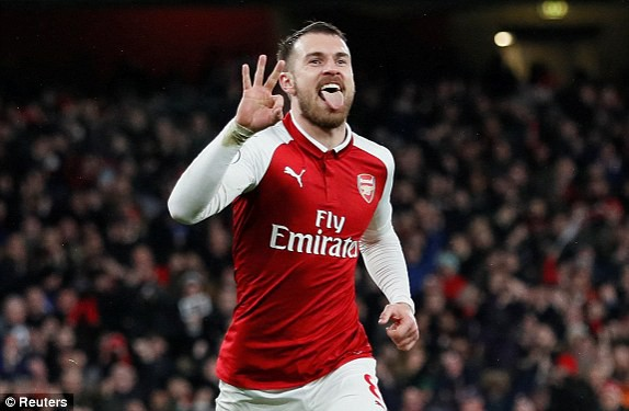 Hình ảnh: Ramsey có cú hat-trick ấn tượng