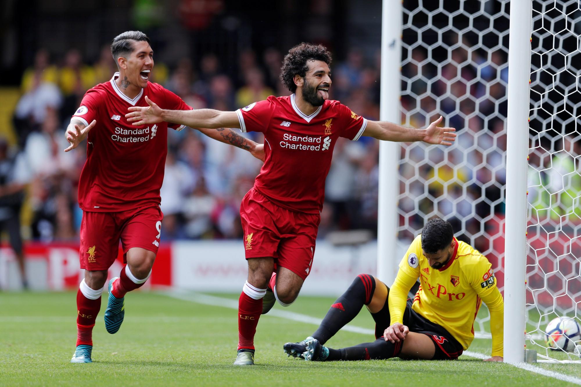 Hình ảnh: Bàn thắng đầu tiên của Salah cho Liverpool chính là vào lưới Waford