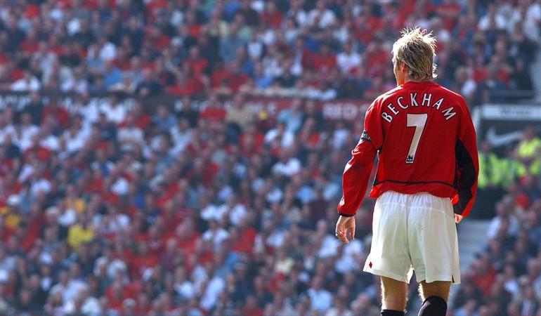 Hình ảnh: Beckham phải mất nhiều năm mới được giao chiếc áo số 7