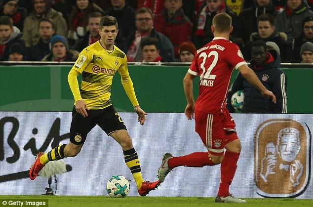Hình ảnh: Man Utd đang nhắm tới tiền vệ Pulisic của Dortmund