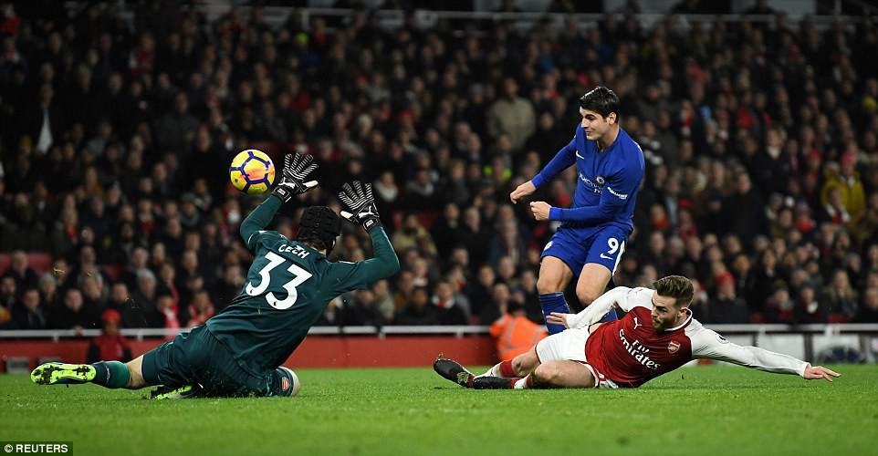 Hình ảnh: Morata bỏ lỡ những cơ hội ngon ăn để ghi bàn