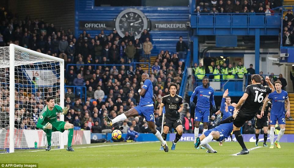 Hình ảnh: Đội khách Leicester là những người chơi hay hơn trong phần lớn thời gian