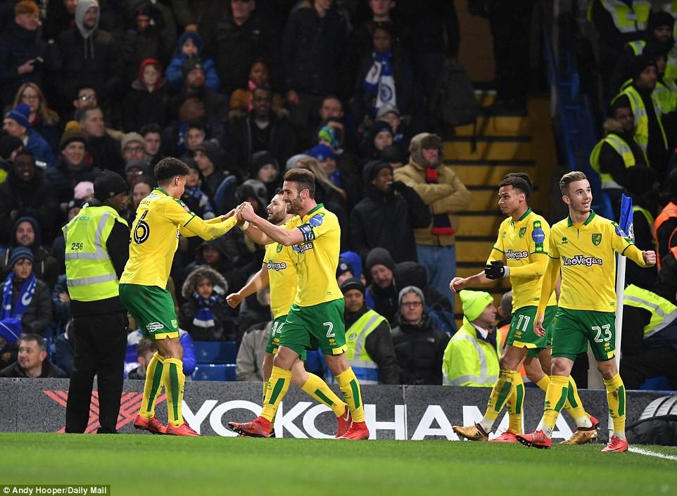 Hình ảnh: Norwich gỡ hòa ở phút 90