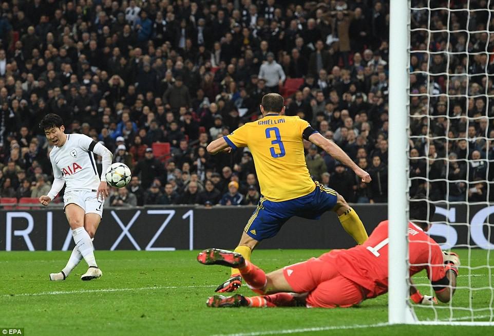 Hình ảnh: Son ghi bàn mở tỉ số cho Tottenham