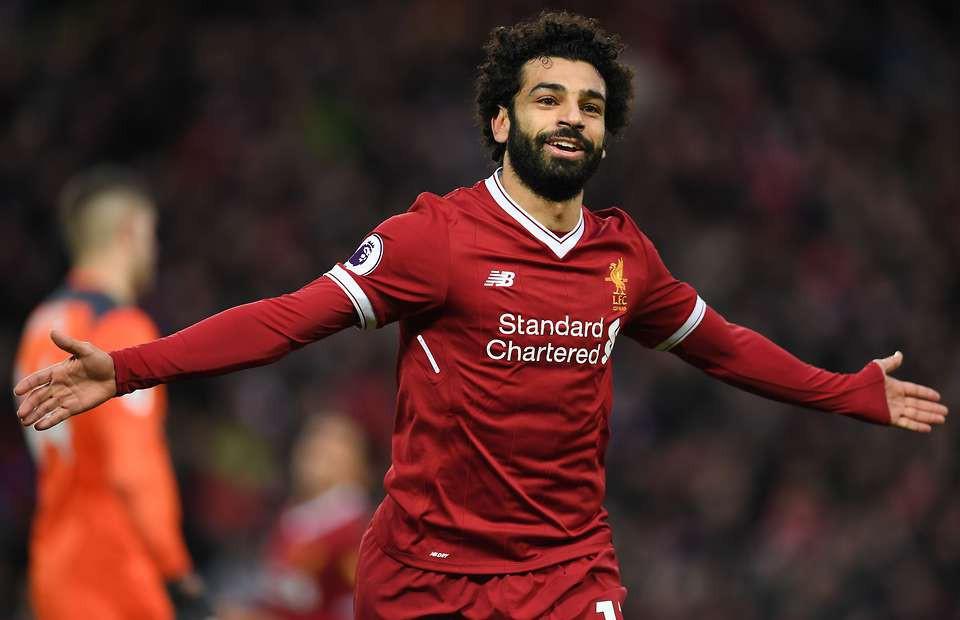 Hình ảnh: Salah đang có phong độ ghi bàn cực cao trong màu áo Liverpool