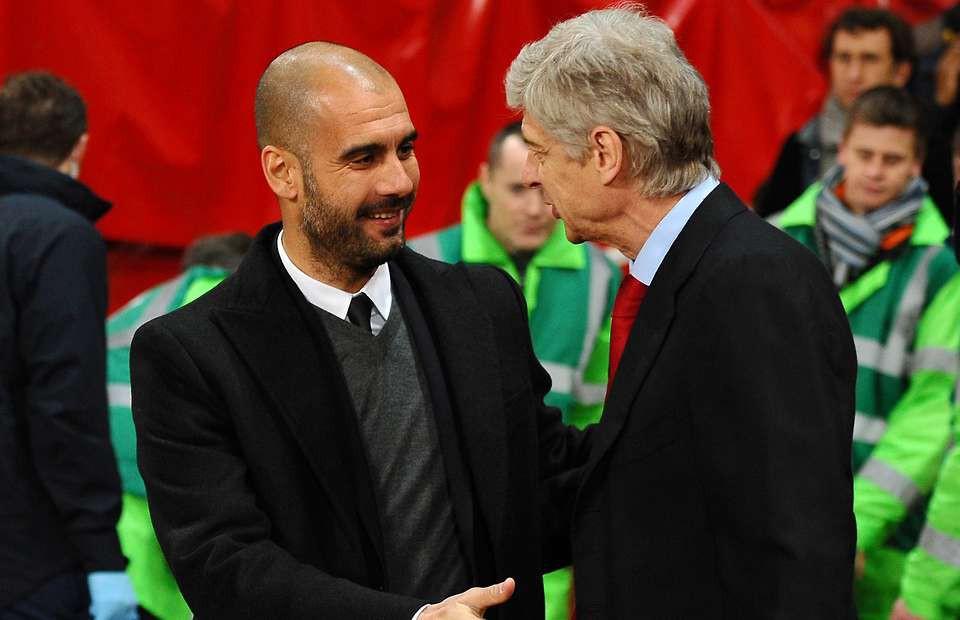 Hình ảnh: Wenger thường là người phải nhận thất bại trong những lần đối đầu với Pep