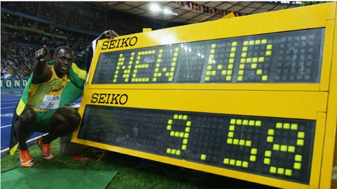 Hình ảnh: Usain Bolt lập kỷ lục Thế giới ở cự ly 100m