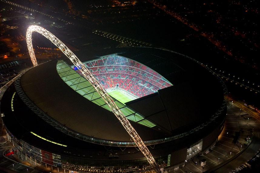 Hình ảnh: SVĐ Wembley nhìn từ trên cao