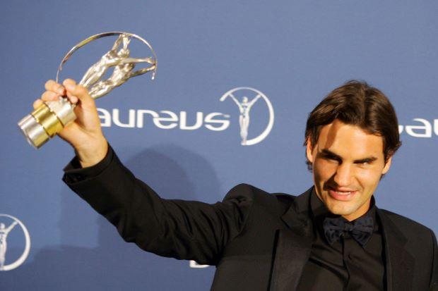 Hình ảnh: Federer từng có 4 lần vinh dự nhận giải thưởng này
