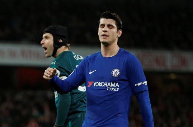 Hình ảnh: Morata có màn trình diễn tệ hại trước Arsenal