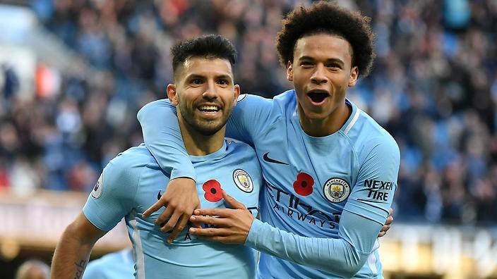Hình ảnh: Khả năng ghi bàn của Sane cũng rất tốt và anh cùng Aguero sẽ là mũi tấn công nguy hiểm của Man City