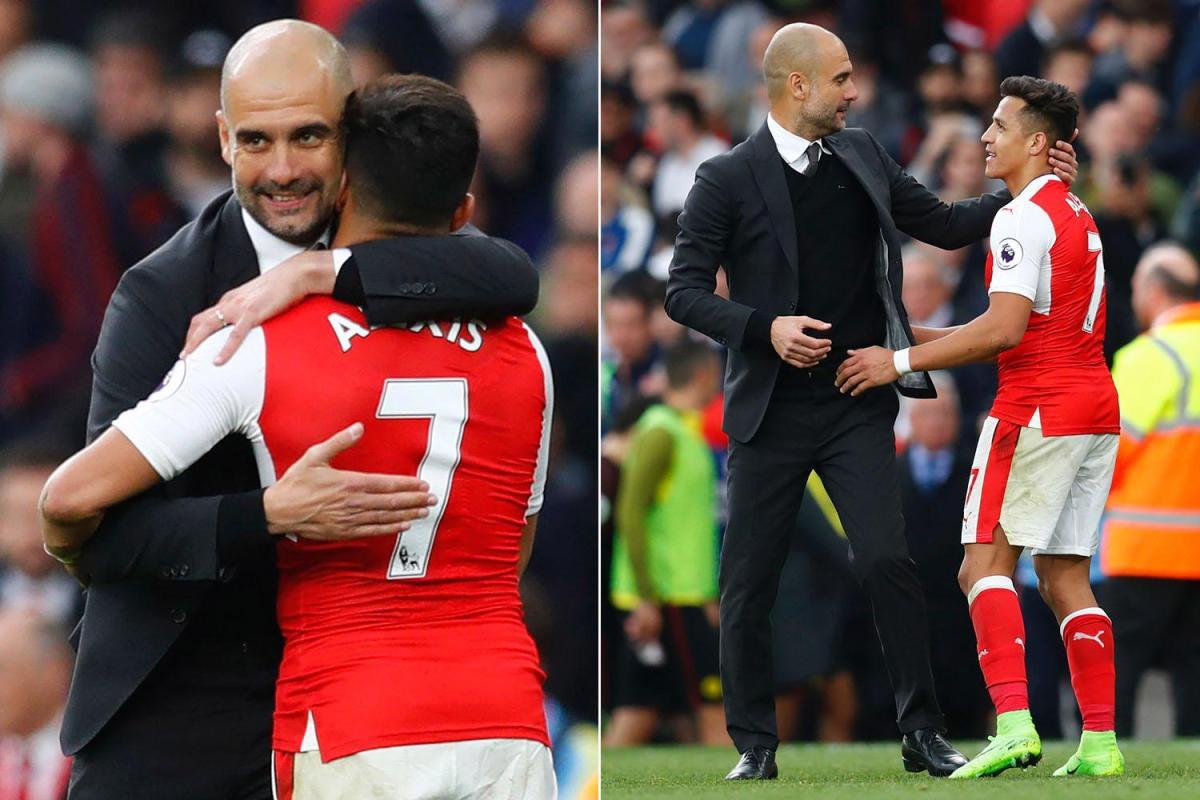 Hình ảnh: Sanchez và Pep Guardiola luôn có mối liên hệ đặc biệt