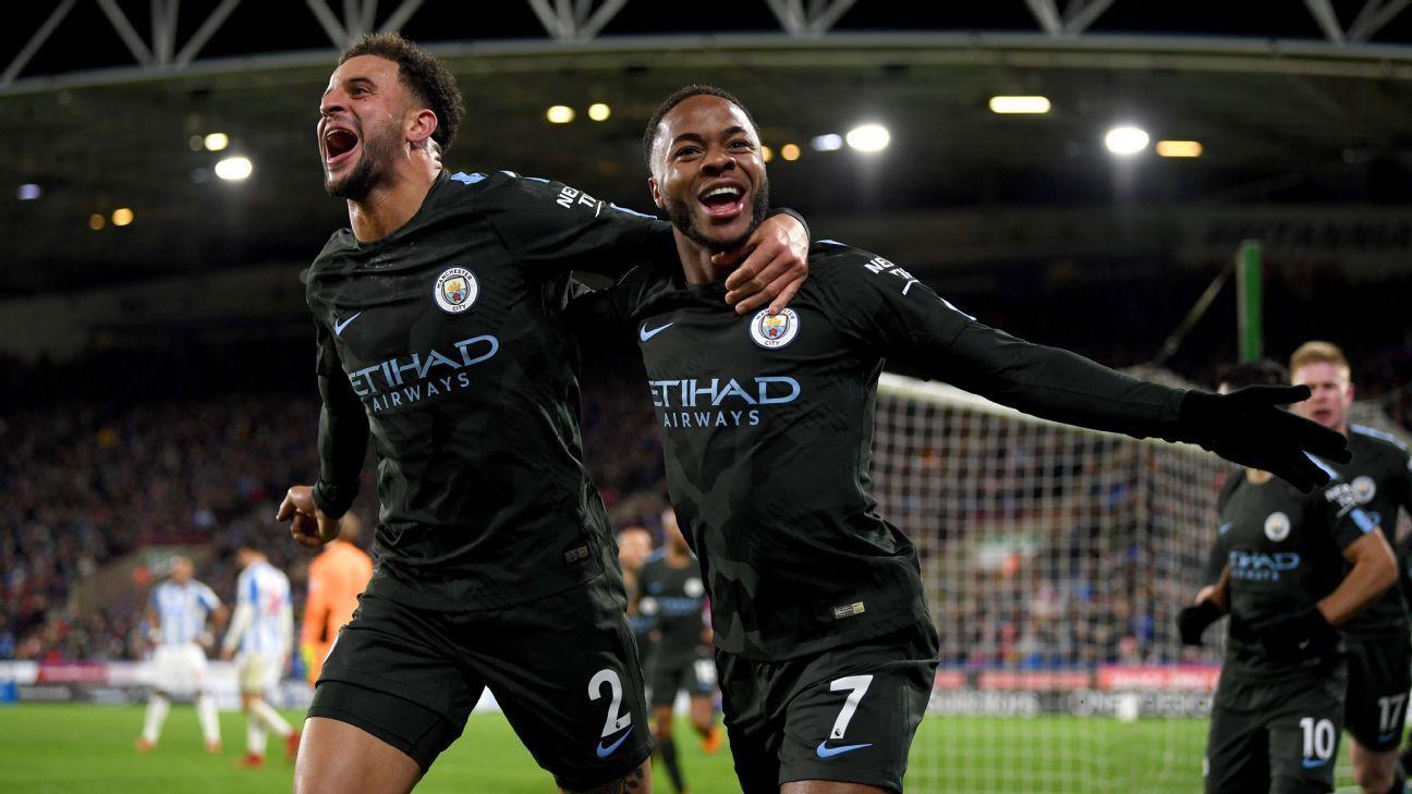 Hình ảnh: Man City đang tiến phăng phăng cuốn xô những kỷ lục ở giải Ngoại hạng