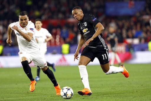 Hình ảnh: Martial chỉ chơi ít phút trước Sevilla