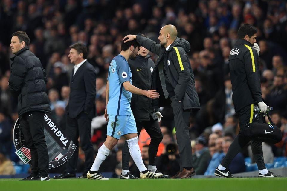 Hình ảnh: Pep Guardiola hiện vẫn còn tới 7 ca thương binh trong đội hình Man City