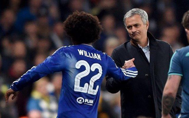 Hình ảnh: Mourinho và Willian từng làm việc cực kỳ ăn ý ở Chelsea