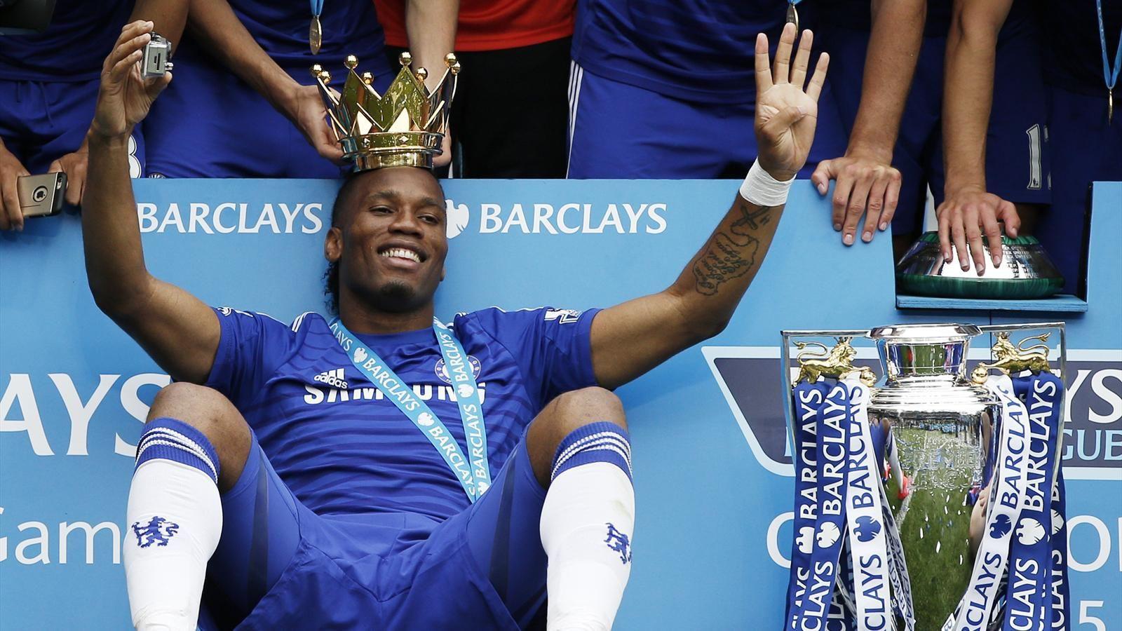 hình ảnh: Drogba đã giành những danh hiệu cao quý nhất cấp CLB trong màu áo Chelsea