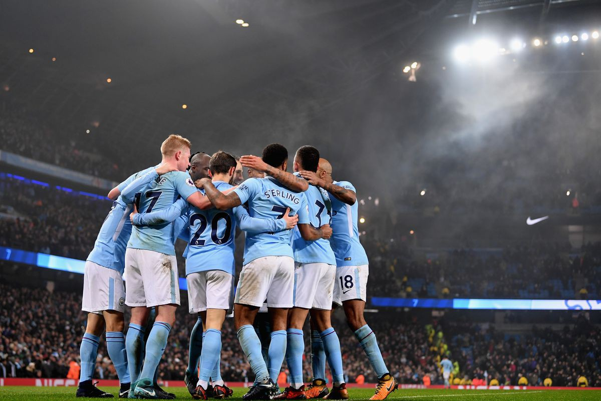 Hình ảnh: Man City vừa nối dài kỷ lục thắng liên tiếp lên 16 trận ở giải Ngoại hạng và đó là chiến trường ưu tiên số 1 lúc này