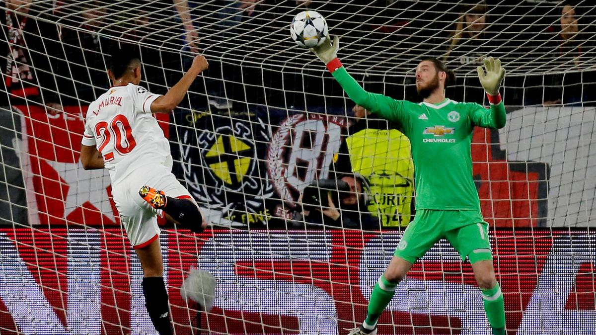 hình ảnh: De Gea đã khiến Sevilla bất lực không thể ghi bàn ở lượt đi