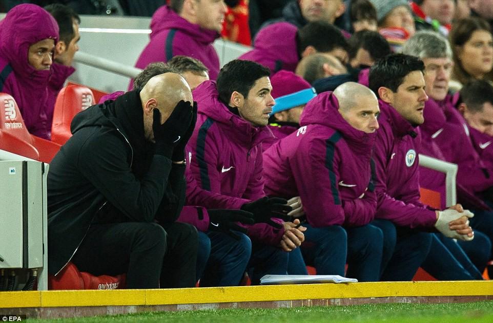 Hình ảnh: Man City đã không có phong độ, thành tích tốt ở Anfield trong cả chục năm qua