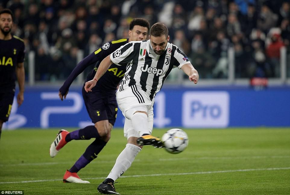 Hình ảnh: Higuain lập cú đúp nhưng Juve không thể hạ Tottenham