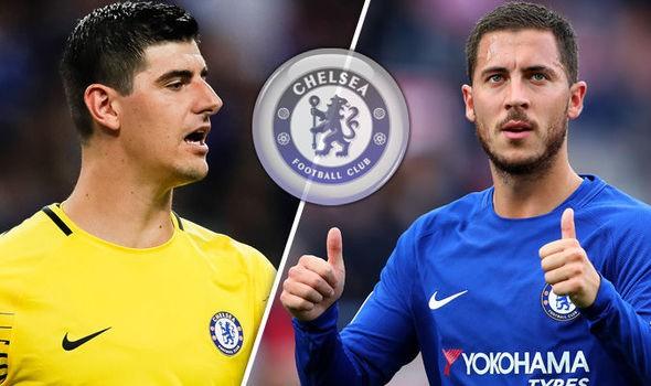 hình ảnh: Courtois và Hazard vẫn chưa đặt bút ký gia hạn hợp đồng với Chelsea
