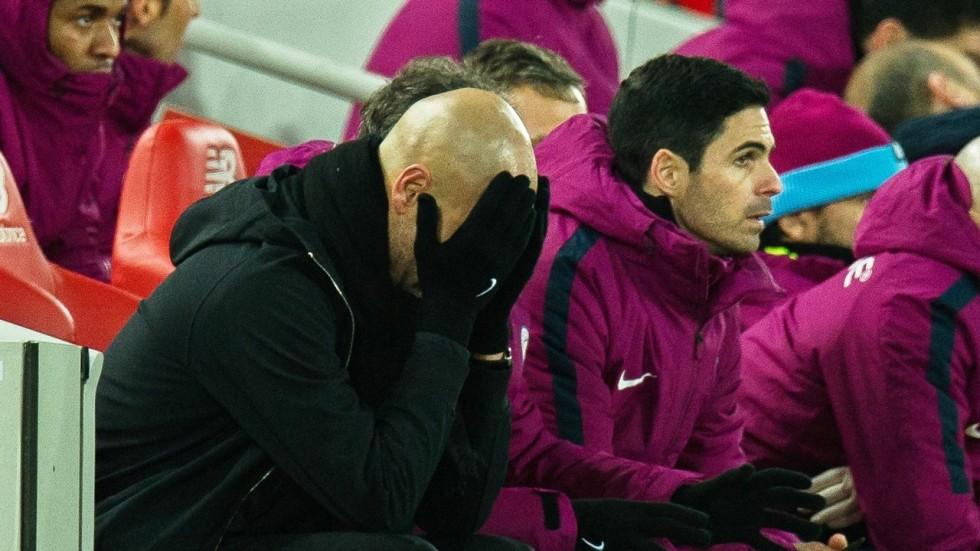 Hình ảnh: Pep Guardiola đang lo ngại khi lực lượng Man City tiếp tục bì bào mòn vì chấn thương, lịch thi đấu dày đặc