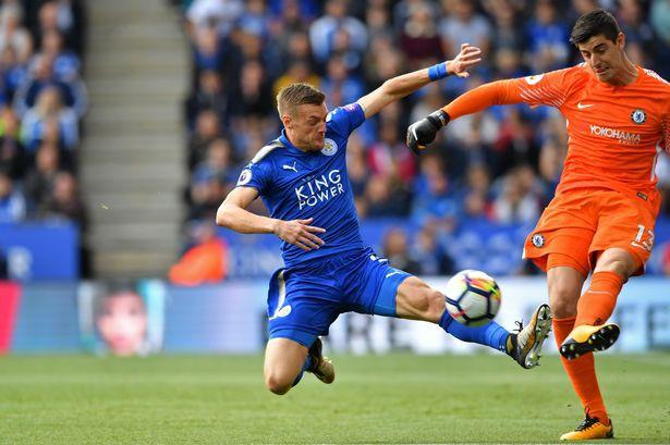 Hình ảnh: Vardy đã ghi bàn ở lượt đi trước Chelsea