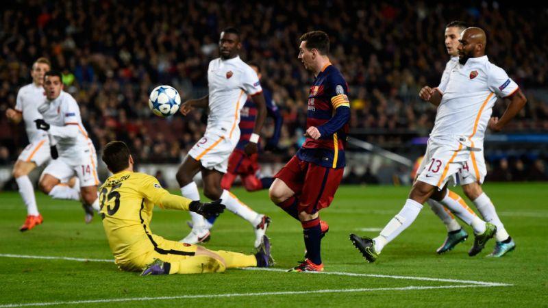 hình ảnh: Barca từng vùi dập Roma 7-2 ở vòng bảng mùa 2015/16 và Messi đã ghi bàn đẹp nhất mùa đó ở cuộc đối đầu này