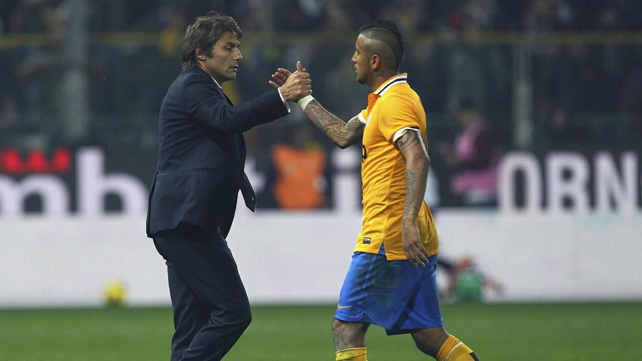 Hình ảnh: Conte và Vidal từng làm việc ăn ý ở Juve