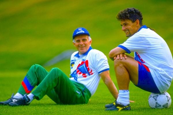 Hình ảnh: Trong thành phần tuyển Italia của HLV Sacchi, Baggio cũng là nghệ sỹ số 1