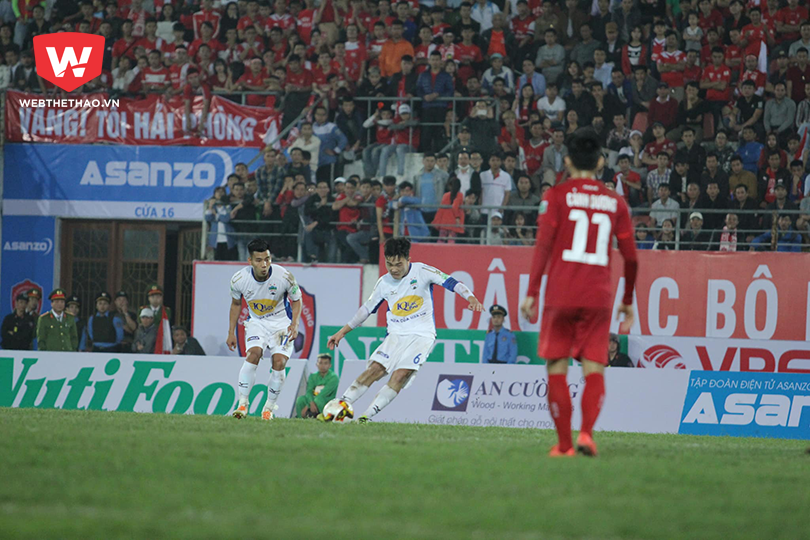 Hình ảnh: Xuân Trường đã có một trận đấu hay trước Hải Phòng FC. Ảnh: Hiếu Lương.