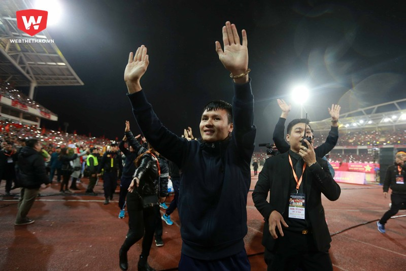 Hình ảnh: ... Quang Hải và các đồng đội ở U23 Việt Nam đạt được ngôi Á quân tại giải châu Á 2018.