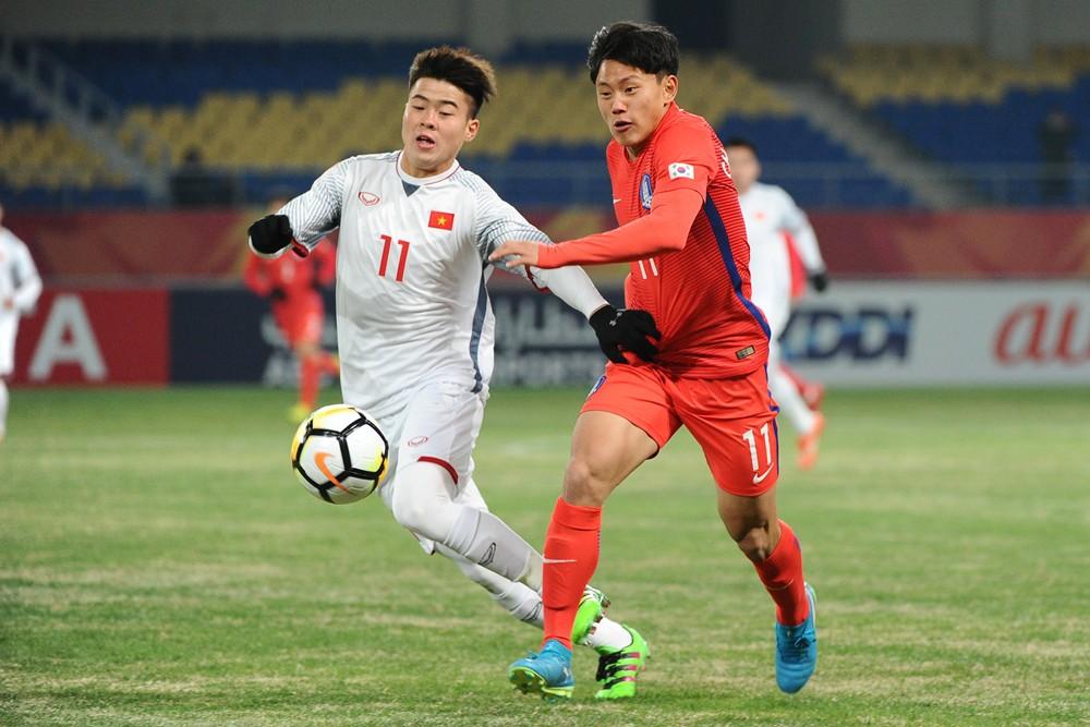 U23 Việt Nam suýt chút nữa đã tạo nên địa chấn tại U23 châu Á 2018. Ảnh: AFC.