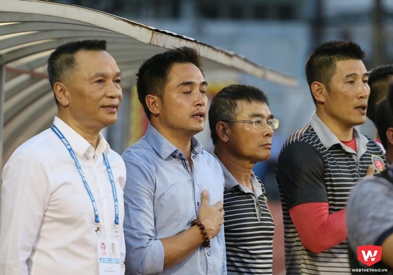Toàn bộ Ban huấn luyện và chủ tịch cũ của CLB Sài Gòn đều được ''rút'' về Hà Nội. Ảnh: Quang Thịnh.