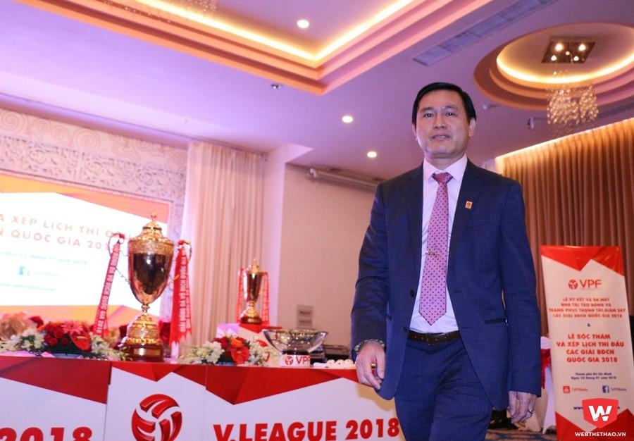 Ông Trần Anh Tú - Tổng giám đốc mới của VPF. Ảnh: Quang Thịnh.