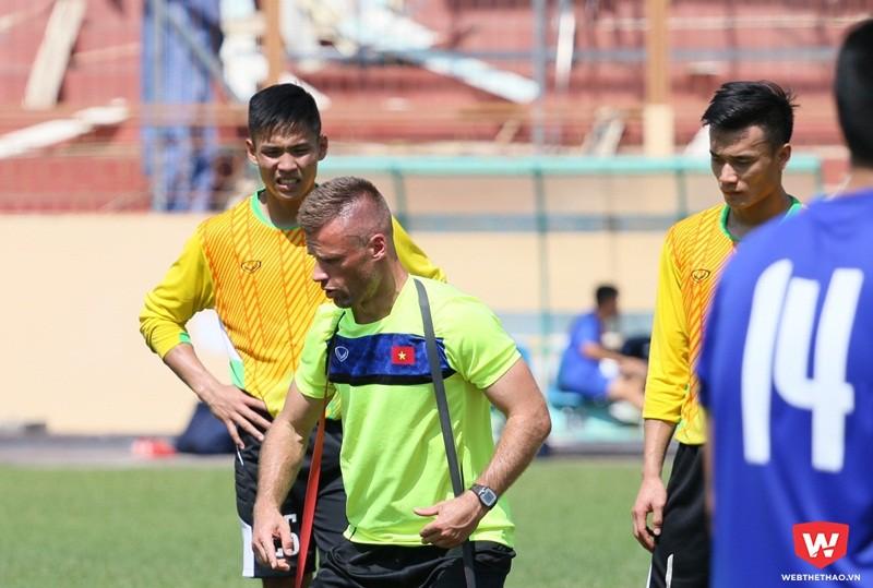 Sỹ Huy từng cùng thủ môn Bùi Tiến Dũng tham dự U20 World Cup 2017 tại Hàn Quốc. Ảnh: Quang Thịnh.