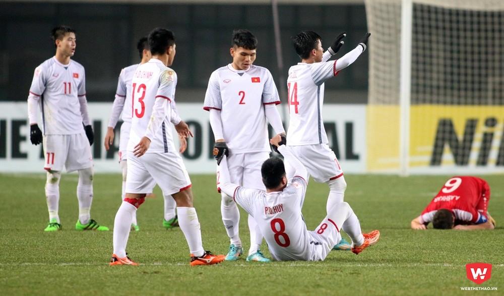 Các cầu thủ U23 Việt Nam cần phân phối thể lực hợp lý trước các đối thủ mạnh hơn. Ảnh: Anh Khoa.