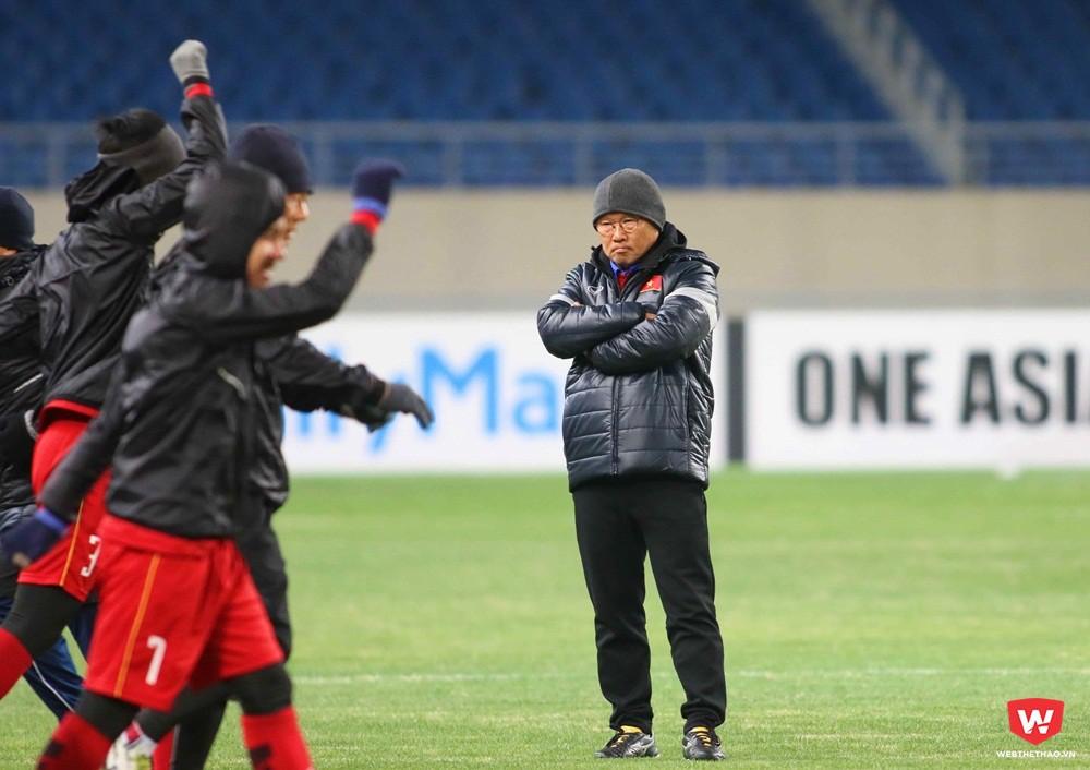 HLV Park Hang Seo gần như đã hoàn thành xong quá trình chuẩn bị trước khi gặp đội bóng quê hương U23 Hàn Quốc vào ngày 11/1/2017. Ảnh: Anh Khoa.