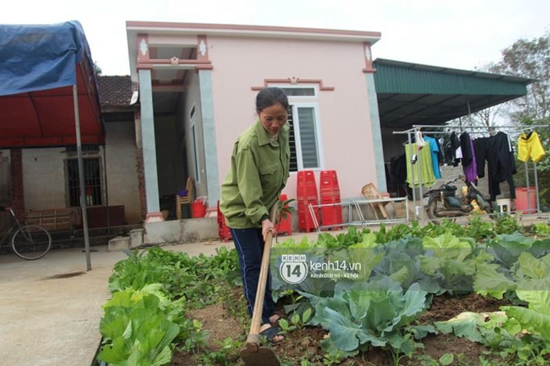 Vườn rau trước nhà của gia đình thủ môn Nguyễn Văn Hoàng.