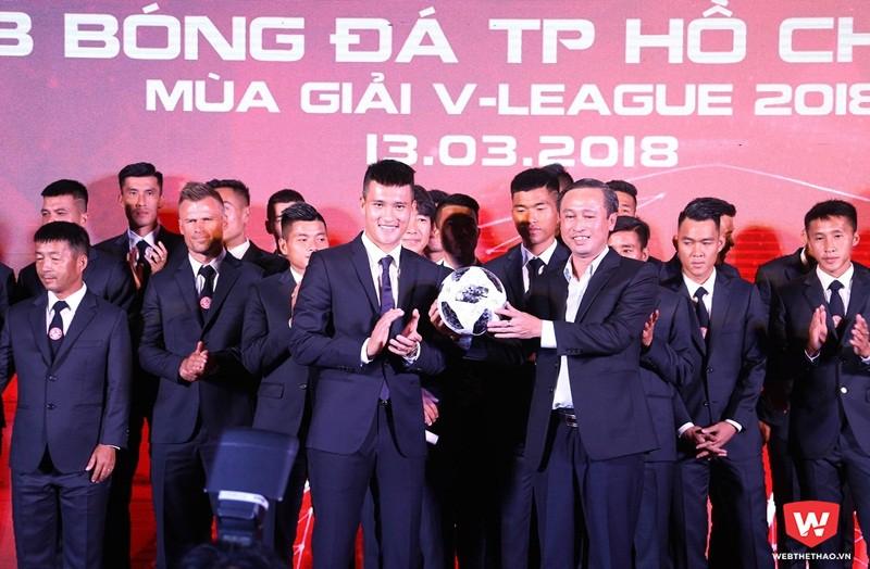 CLB TP.HCM hứa hẹn là đội bóng đáng xem ở V.League 2018. Ảnh: Quang Thịnh.