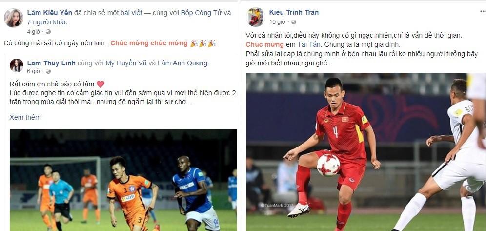 hình ảnh: Lâm Quang Anh và Hồ Tấn Tài nhận được ''mưa'' lời chúc