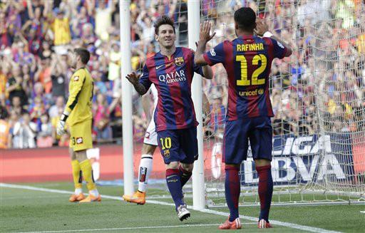Hai bàn thắng của Messi giúp anh có được một kết thúc trọn vẹn cho một mùa giải bùng nổ của chủ nhân 4 Quả bóng vàng, với sự tương trợ tích cực của Suarez và Neymar trên hàng công Barcelona