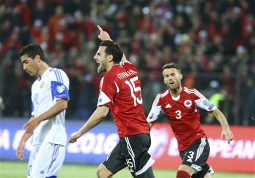 Albania làm nên lịch sử với việc có vé chơi tại VCK Euro 2016.