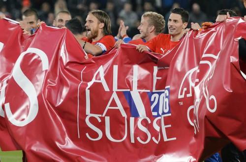Thụy Sỹ cũng theo chân tuyển Anh để đến Pháp.