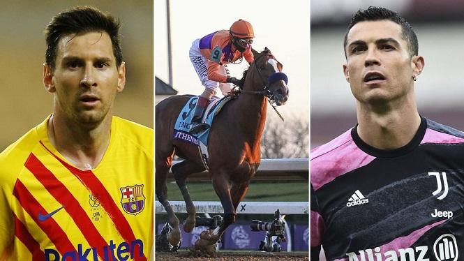 Con ngựa kiếm được nhiều gấp 20 lần Messi và Ronaldo năm 2020